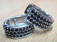 """Серебряные  серьги с сапфирами  """"Таис"""", фото 1"""