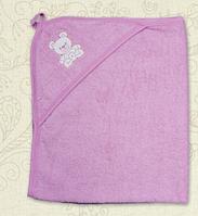 Уголок для купания с вышивкой Махра Цвет розовый 75*90 см Бетис