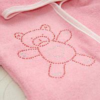 Халат детский Классический Махра 2 ст. Цвет молочный, белый, розовый Размер 92-98 Бетис