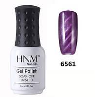 Гель-лак фиолетовый кошачий глаз 6561 8 мл HNM, фото 1