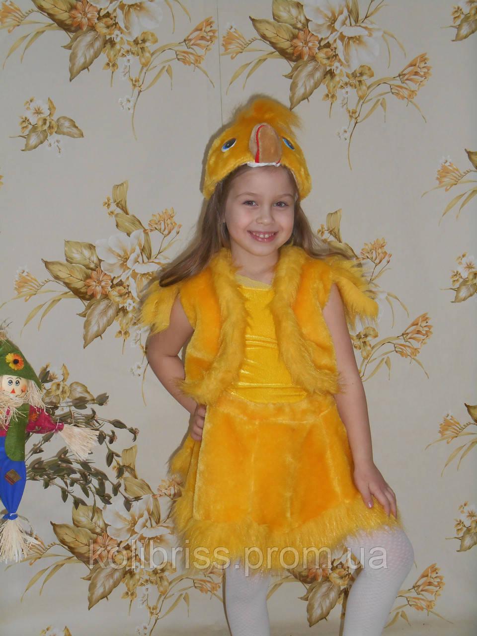Карнавальный костюм уточка, утёнок, утенок  мех прокат