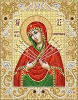 Схема для вышивки бисером Образ Пресвятой Богородицы ''Семистрельная''
