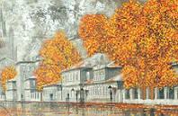 Схема для вышивки бисером Осень в городе