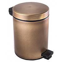 Ведро для мусора, 5 литров Alis Versace F014, бронза