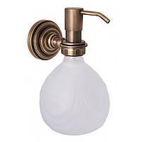 Дозатор для жидкого мыла настенный Alis Versace V040, бронза