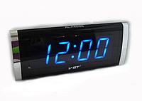 Электронные сетевые настольные часы 730 - 5 синие