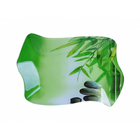 """3810 Тарілка """"Хвиля1"""" 24,5*16см (Зелений бамбук)"""