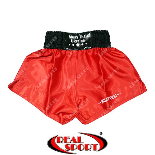 Шорты для тайского бокса и кикбоксинга красные Lev Sport BK100018