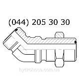 Угловой соединительный фитинг 45°, переборка, 7707, фото 3