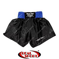Шорты для тайского бокса Muay Thai (муай-тай) черные