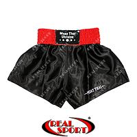 Шорты для тайского бокса Muay Thai (муай тай). Цвет черный