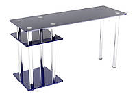 """Стеклянный компьютерный стол """"Р-5"""" Эскадо"""