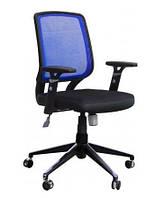 Кресло Онлайн Алюм сиденье Сетка черная/спинка Сетка синий.