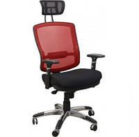 Кресло Коннект HR Алюм сиденье Сетка черная/спинка Сетка Красный