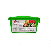 Giaretti.Ємнiсть для продуктів квадратна з кришкою 0,45л Браво GR-1030 mix