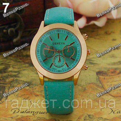 Женские часы Geneva  мятного цвета.