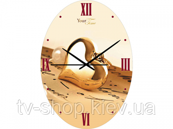 Часы настен. Золотое сердце (стекло)