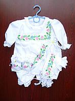 Крестильный набор с украинской вышивкой для девочки