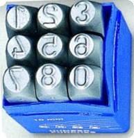 Клейма цифровые и буквенные,  наборы цифр и букв Латиница римские
