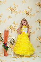 """Шикарное желтое  платье """"Зефир""""  для праздника, выпускного прокат Киев"""