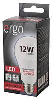 Lamp ERGO Standard A60 Е27 12W 220V Нейт.Бел. 4100K Мат. н/Дим.