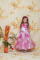 """Шикарное платье """" Дуэт цветы"""" цвет розовый на праздник, выпускной прокат Киев"""