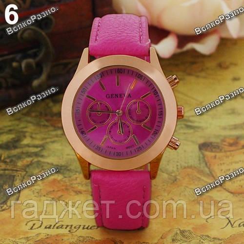Женские часы Geneva розового цвета.