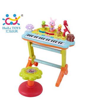 Детский музыкальный инструмент «Huile Toys» (669) электронное пианино, фото 3