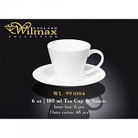 Wilmax.Чашка чайна&блюдце 180мл