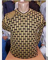 Мужской свитер тонкий желтый окрас