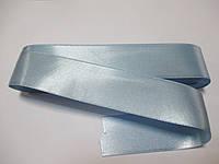 Стрічка атласна  двостороння 3 см ( 10 метрів) голуба світла