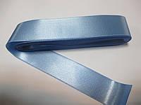 Стрічка атласна  двостороння 3 см ( 10 метрів) голуба Н 093