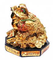 Трехлапая Жаба богатства на монетах