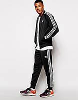 Мужской трикотажный спортивный костюм Adidas адидас брюки манжет