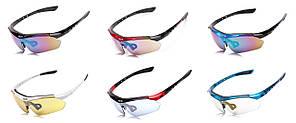 Спортивные очки Oakley 089 POLARIZED с поляризацией и UV400 (5 сменных линз)
