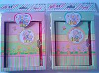 Блокнот А6 На ключике+ручка В коробке Цветочки 242411 Starpak Польша