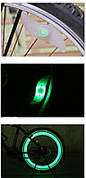 """Силиконовая """"S""""-образная одноцветная диодная мигалка / моргалка на колесо / спицу Зеленый"""