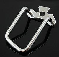 Велосипедная стальная защита заднего переключателя скоростей (защита перекидки) ХРОМ
