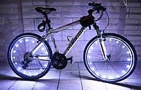 Диодная иллюминация колеса / спиц велосипеда на 20 диодов 20, Универсальная клипса, Пластик, Водонепроницаемый, Максимальный, Мигалка, Диодная, БЕЛЫЙ