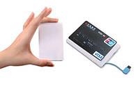 """Повербанк """"визитка"""" / """"кредитка"""" на 1500 мАч портативный, со встроенным кабелем micro-USB"""