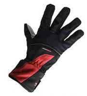 Велосипедные перчатки зимние непродуваемые непромокаемые Robesbon с мембраной Windstopper M, Красный + Чёрный