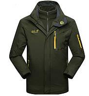 Мужская куртка 3 в 1 JACK WOLFSKIN. Куртки спортивные. Зимние куртки мужские. Демисизонная куртка