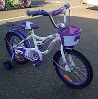 Детский двухколесный велосипед для девочки Azimut Kiddi (16 дюймов)