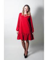 """Платье с """"Рюшей"""" для кормления LULLABABE красное M"""