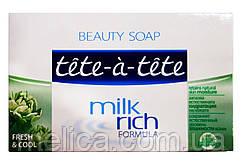 Мыло Tete-a-tete Milk rich formula Fresh & Cool - 100 г.