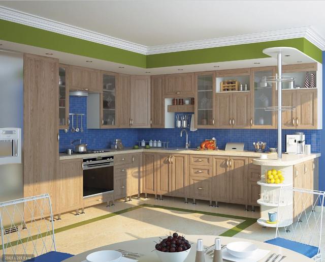 Кухня София Классик (цвет светлая вязь)
