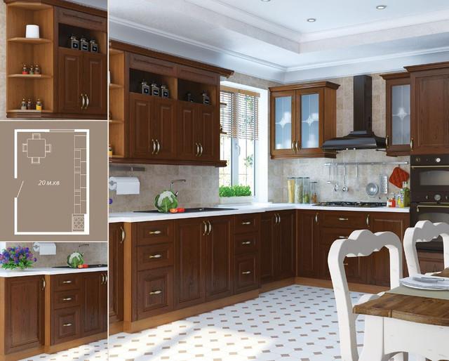Кухня София Классик (цвет каштан, фото 4)