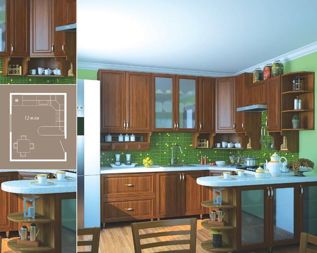 Кухня София Классик (цвет орех, фото 3)