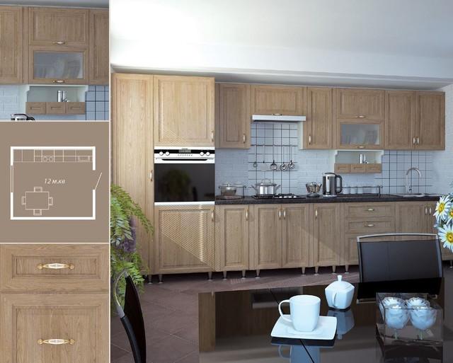 Кухня София Классик (цвет светлая вязь, схема)