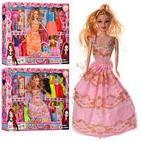 Кукла с нарядом 27см., 15 платьев, дочка 10см., коляска,бутылочка в кор. 42х32,5х5,5см. 2015А-1 (48)